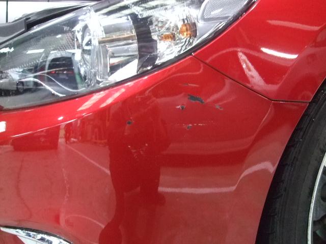 マツダ『アテンザ 』フロントバンパー&左サイドステップ板金塗装修理