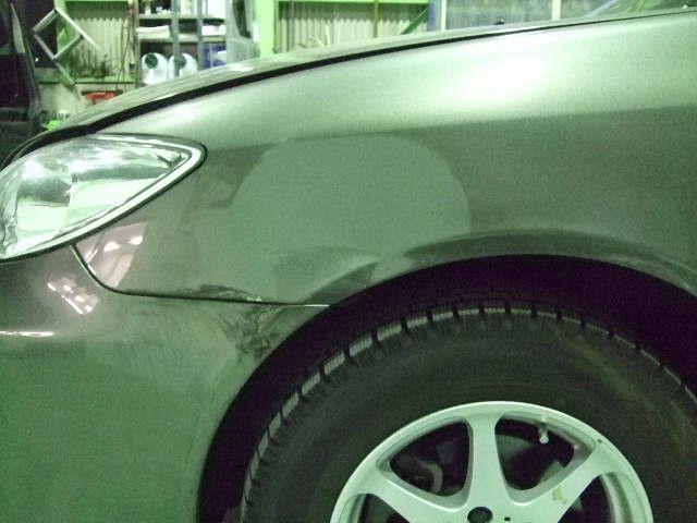 トヨタ カムリ フロントバンパー フェンダー 板金塗装